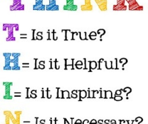 think, quote, and helpful image
