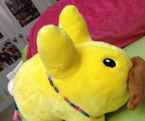 fluffy, labbit, and necklace image