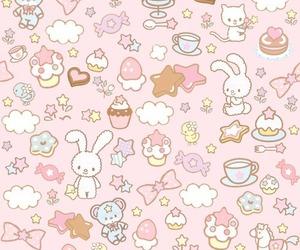 pink, kawaii, and wallpaper image