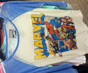 Marvel, t-shirt, and baseball tee image