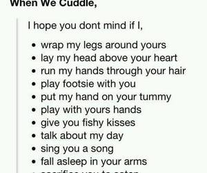 cuddle, funny, and kiss image