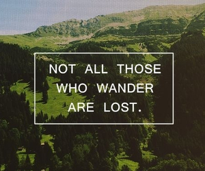 lost, wander, and wanderlust image