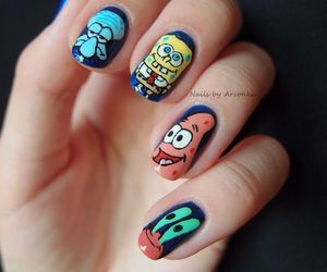 nails, awesome, and spongebob image
