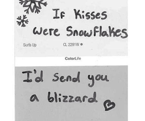 blizzard, kisses, and quote image