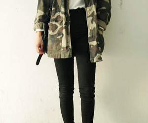 boots, camouflage, and shirt image