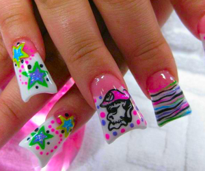 disgusting, acrylic nails, and fuking ugly image