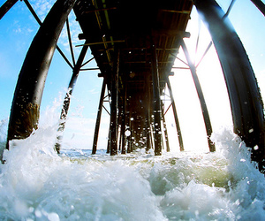 water, photography, and pier image