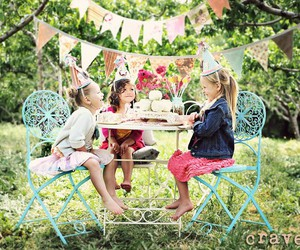 girl, kids, and party image