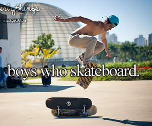 boy, skateboard, and Hot image