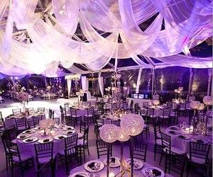 black and purple, wedding, and cake image