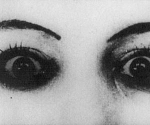 eyes, black and white, and gif image