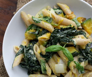 kale, pasta, and butternut squash image