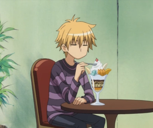 anime, ice cream, and usui takumi image