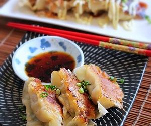 cabbage, gyoza, and dumplings image
