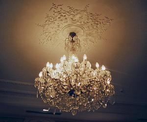 light, vintage, and chandelier image
