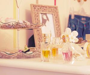 perfume, heels, and jewelry image