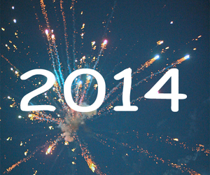 2014, new year, and fireworks image