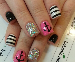 anchor, glitter, and nails image