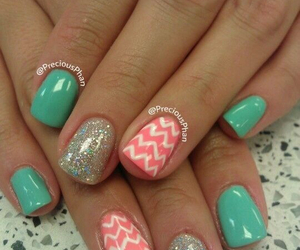glittery, teal, and cute image