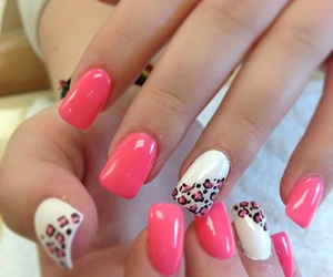 girly, leopard, and nails image