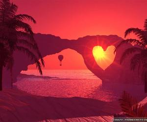 heart, pink, and see image