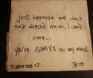 tissue, love, and quote image