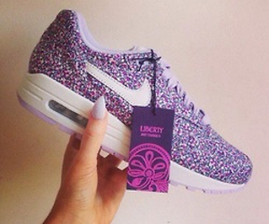 nike, shoes, and purple image