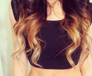 black, hairs, and fashion image