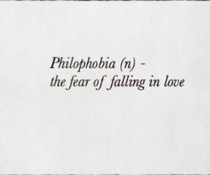 love, fear, and quotes image