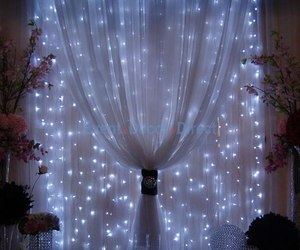 light, home, and curtains image