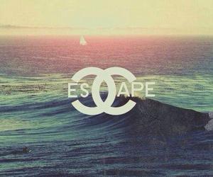 escape, chanel, and sea image