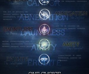 insurgent, divergent, and dauntless image