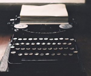 letters, machine, and vintage image