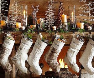 christmas and mantle image