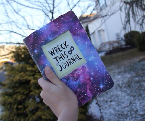 book, galaxy, and cool image