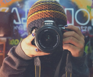 camera, nikon, and picture image