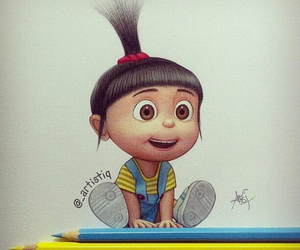 agnes, drawing, and despicable me image