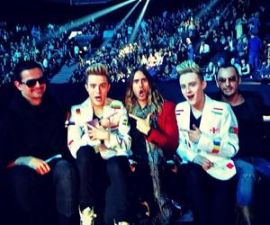 30 seconds to mars, 30stm, and ema image