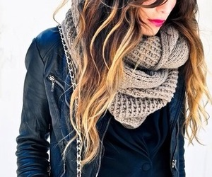 fall fashion, scarf, and style image