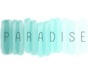 paradise and blue image