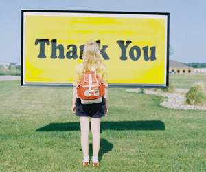 sign and thank you image