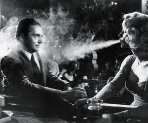 smoke, black and white, and vintage image