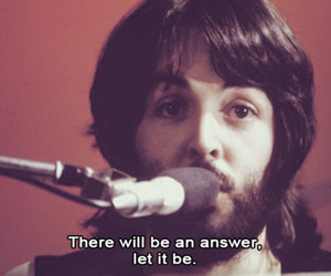 the beatles, let it be, and Paul McCartney image