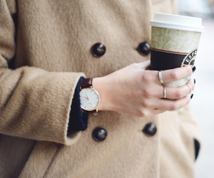 coffee, fashion, and coat image