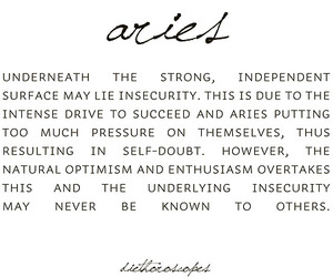 aries, minimalist, and quote image