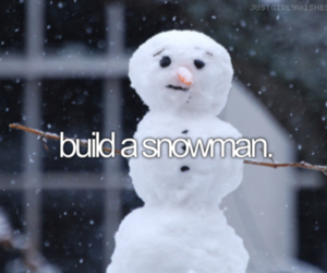 snowman, christmas, and snow image