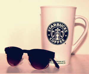coffee, shades, and cute image