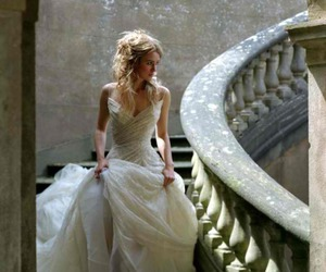 dress, wedding dress, and keira knightley image