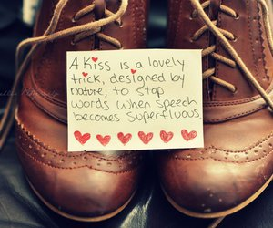 love, shoes, and kiss image