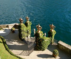italy, sea, and garden image